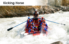 Kicking Horse River rafting in the Canadian Rockies